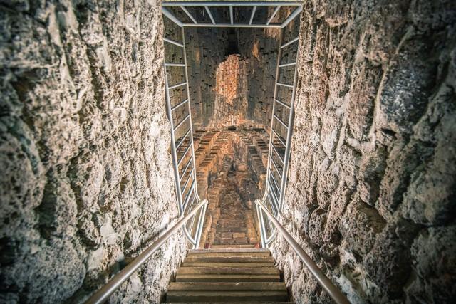 Stair inside Wat Ratchaburana