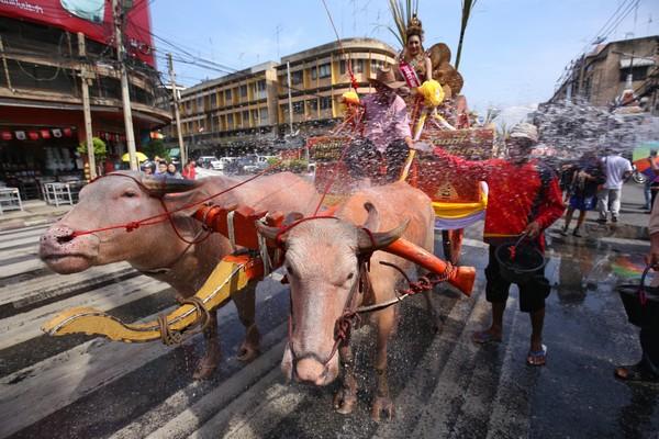 parade in Chonburi Thailand
