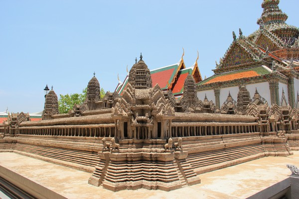 Angkor Wat model inside the Grand Palace Wat Phra Kaew Bangkok