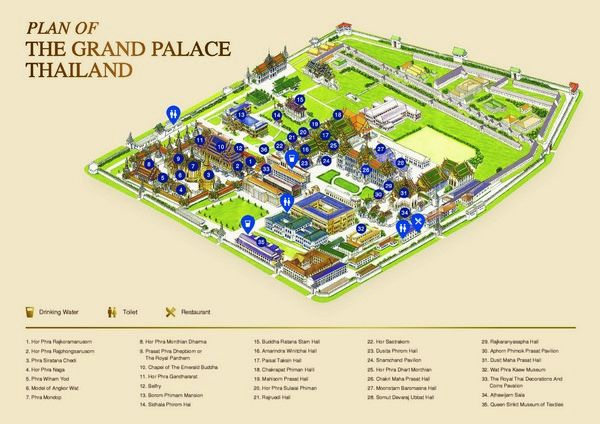 Plan of the Grand Palace Thailand