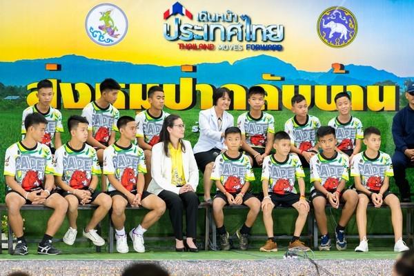13 members of Wild Boar Academy Football Team