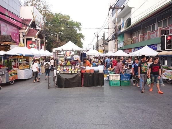 Saturday walking Street in Chiang Rai