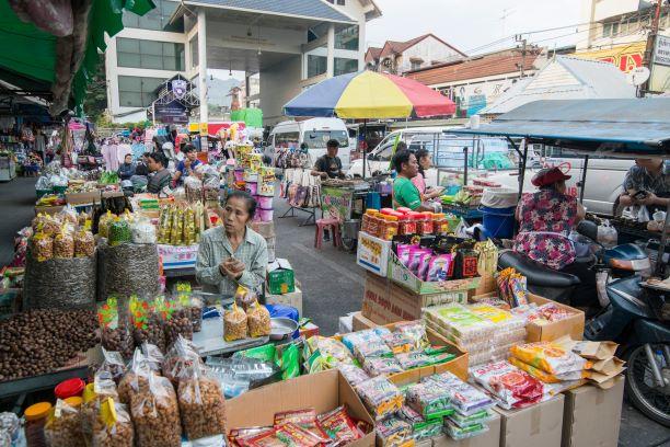 Chips and Snacks Zone at Mae Sai Market