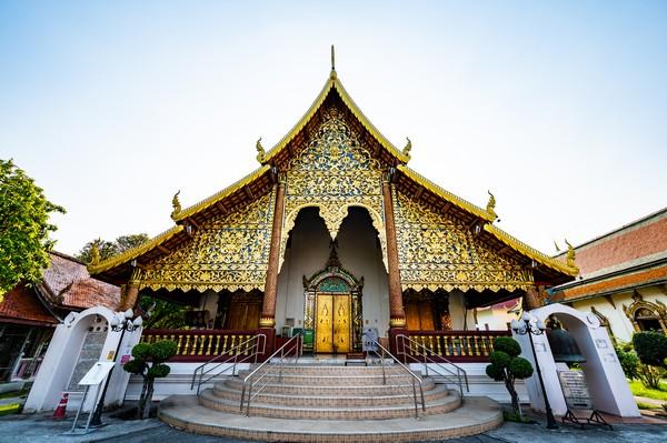 The Main Hall or Ubosot of Wat Chiang Man