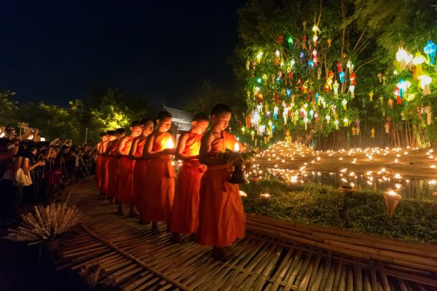 parade of monks and novices step nice