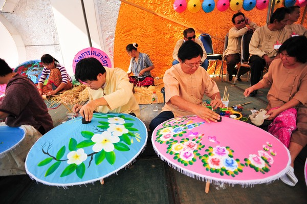 Umbrella Making by villagers