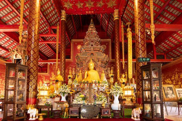 Phra Kaew Khao inside the hall of Wat Chiang Man