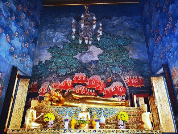 Mural Painting inside the Ubosot of Wat Bowonniwet Vihara