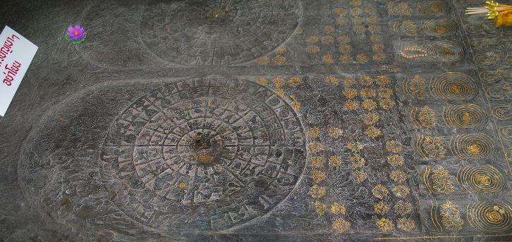 Buddha's footprint in Wat Bowonniwet
