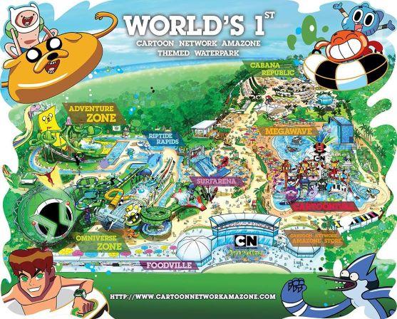 Tourist Information Cartoon Network Amazone Waterpark
