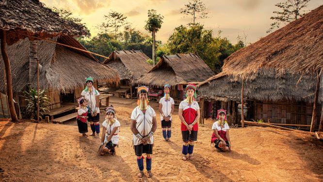 long-neck Karen villages