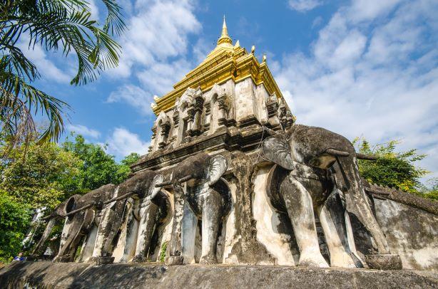 Chedi Chang Lom (The Elephant Pagoda)