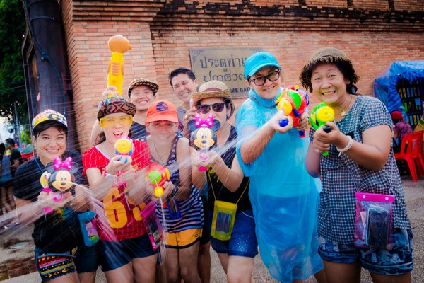 Song Kran in Tha Phae Gate Chiang Mai