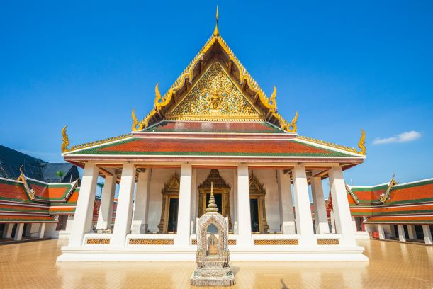 The main wihan of Wat Saket, Bangkok, Thailand