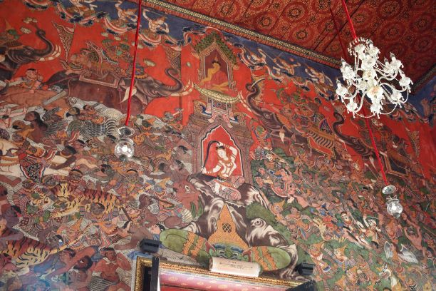 Mural paintings on the hall