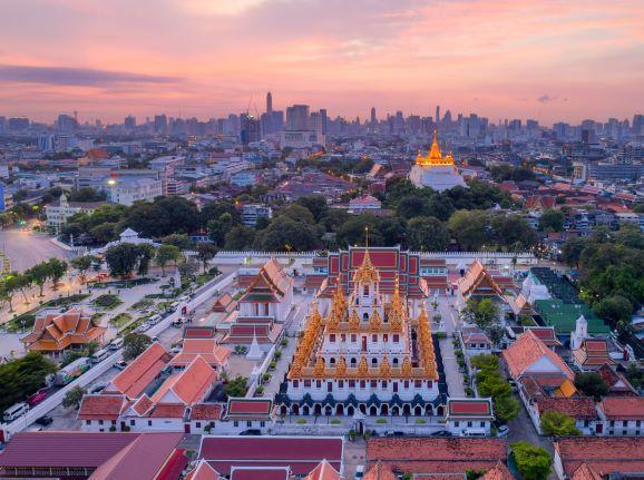 Location of Wat Ratchanatdaram Temple