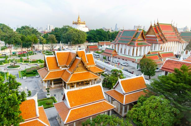 Wat Saket are the most famous temple in Bangkok Thailand