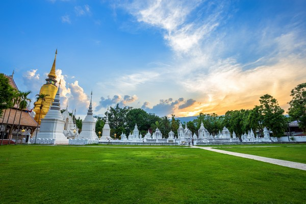 Wat Suan Dok Flower garden temple in Chiang Mai
