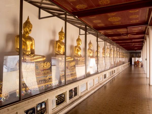 Buddha images inside Wat Saket Temple